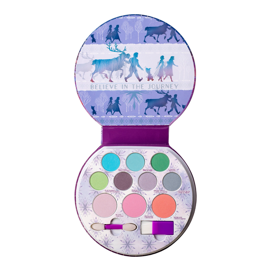 Frozen II Glitter Palette | Lip Smacker - Products front facing lid open, with no background
