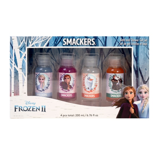 Lip Smacker | Smacker® Frozen II Shower Gel - products front facing, in box, with white background
