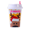 Lip Smacker | Holiday Beverage Cup - Reindeer - Reindeer Mocha | Product front facing cap fastenend, with no background