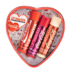 Physicians Formula | Coca-Cola 3 Piece Lip Balm Tin | Product front facing in open tin caps fastened, with no background