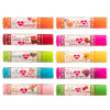 Lip Smacker | My Punny Valentine 10 Piece Lip Balm | Products front facing caps fastened, with no background