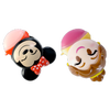 Disney Emoji Lip Balm Duo - Belle & Minnie   Wet n wild   Product angled cap open, with no background