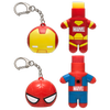 Marvel Superhero Lip Balm Duo- Spiderman & Iron Man   Lip Smacker   Products front facing caps removed, with no background