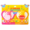 BFF Sugar Bear Lip Balm Duo- Pink & Yellow | Lip Smacker | Product front facing in packaging, with no background