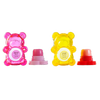 BFF Sugar Bear Lip Balm Duo- Pink & Yellow | Lip Smacker | Product front facing caps removed, with no background