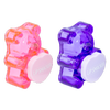 BFF Sugar Bear Lip Balm Duo- Pink & Purple | Lip Smacker | Product angled cap fastened, with no background