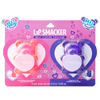 BFF Sugar Bear Lip Balm Duo- Pink & Purple | Lip Smacker | Product front facing in packaging, with no background