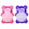 BFF Sugar Bear Lip Balm Duo- Pink & Purple | Lip Smacker | Product front facing cap fastened, with no background