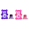 BFF Sugar Bear Lip Balm Duo- Pink & Purple | Lip Smacker | Product front facing cap removed, with no background