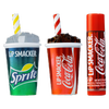 Coca-Cola 3 Pack Beverage Lip Balm- Coke & Sprite | Lip Smacker | Products front facing caps fastened, with no background