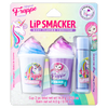 Magical Frappe Collection 3 Pack Beverage Lip Balm - Unicorn & Mermaid   Lip Smacker   Products front facing cap fastened, in packaging with no background