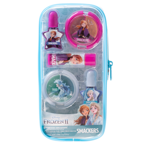 Frozen II Pouch Color Set | Lip Smacker | Product front facing in pouch, with no background