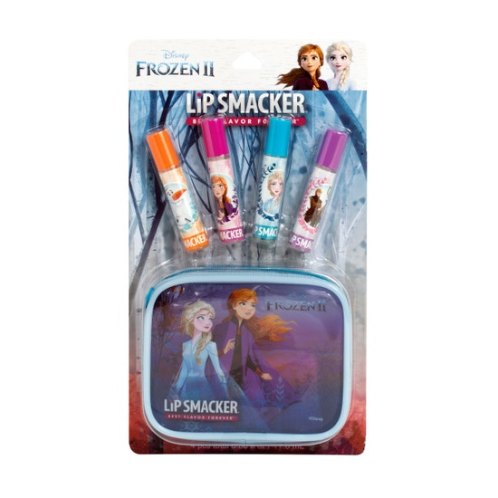 Lip Smacker | Smacker® 4 Piece Frozen II Lip Gloss Set  - products front facing, carded, with white background
