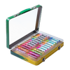 Lip Smacker | Crayola 24 - Piece Lip Balm Vault - Product angled case opened, with no background