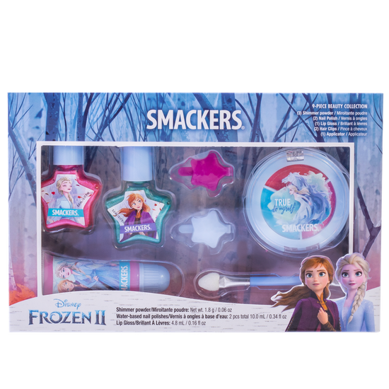 Lip Smacker | Disney Color Vault - Frozen II - Products front facing in box, with no background