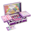 Lip Smacker | Sparkle & Shine Unicorn Train Case | Product angled case open, with no background