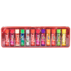 Lip Smacker | 12 Piece Coca-Cola Lip Balm Vault | Product front facing lid off, with no background.