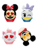 Lip Smacker | Disney Emoji Lip Balm 4 Pack - Mickey, Minnie, Marie, Daisy - products front facing with cap fastened and one open, with no background