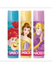 Lip Smacker | Disney Princess Trio - products front facing with cap fastened, with white background