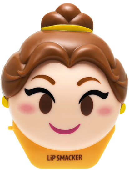 Lip Smacker | Disney Emoji Lip Balm - Belle - #LastRosePetal - product front facing with cap fastened, carded, with no background