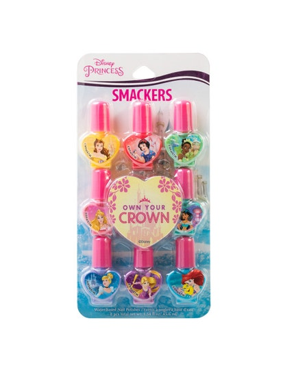 Lip Smacker | Disney Princess Own Your Crown 8 Piece Nail Polish Set - products front facing carded, with white background