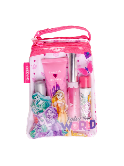 Lip Smacker | Princess Glam Bag - products front facing with in bag, with no background