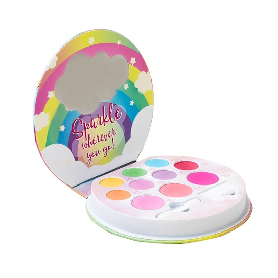 Lip Smacker | Smackers Sparkle & Shine Makeup Palette - Unicorn Palette - product front facing, open compact, white background