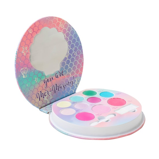 Lip Smacker | Smackers Sparkle & Shine Makeup Palette - Mermaid Palette - product front facing, open compact, white background