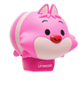 Lip Smacker | Tsum Tsum - Cheshire Cat - Plumberry Wonderland - product angle view with cap fastened, with no background