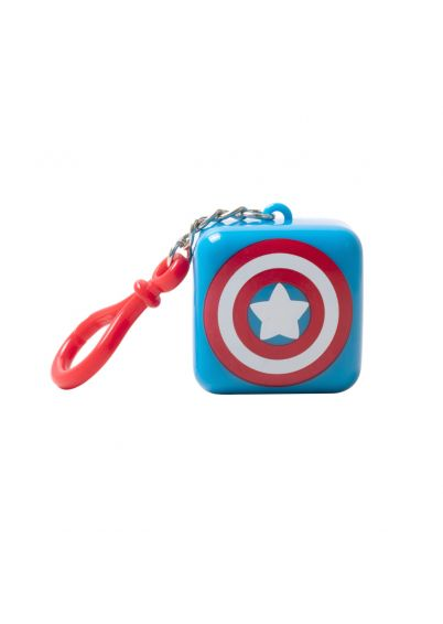 Lip Smacker | Marvel Cube - Captain America - Berry Admirable - product front facing with cap fastened, with white background