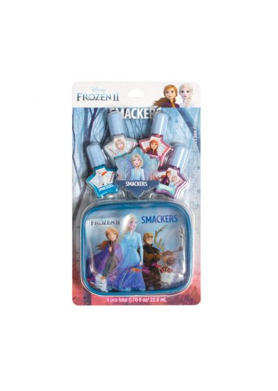 Lip Smacker | Smacker® 4 Piece Frozen II Nail Polish Set  - products front facing, carded, with white background
