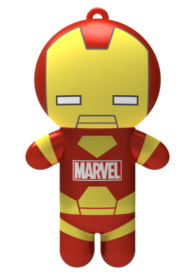 Lip Smacker | Marvel Super Hero Lip Balm - Iron Man Billionaire Punch - product front facing with cap fastened, with no background