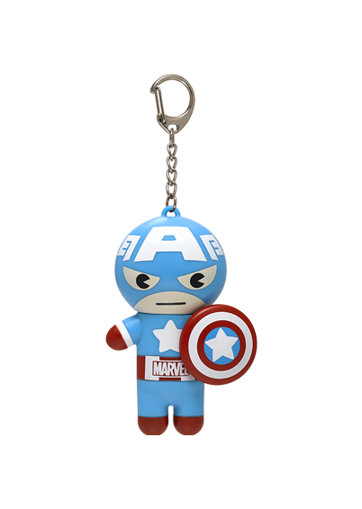 Lip Smacker | Marvel Super Hero Captain America Lip Balm  - product front facing with cap fastened, with no background