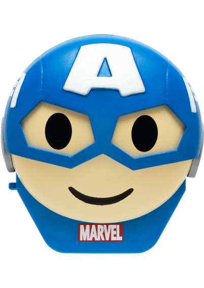 Lip Smacker | Disney Emoji Lip Balm - Captain America - #HeroicWhiteChocolate - product front facing with cap fastened, with no background