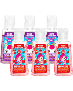 Lip Smacker | Purifying Pal Hand Sanitizer 6-Piece Bundle - product front facing with cap fastened, with no background