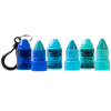 Stackable Crayola Lip Balm - Blue| Lip Smacker | Products front facing and caps removed, with no background