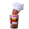 Lip Smacker | Holiday Beverage Cup - Reindeer - Reindeer Mocha | Product front facing cap removed, with no background