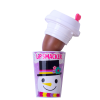 Lip Smacker | Holiday Beverage Cup - Snowman - Cocoa-ccino | Product front  facing cap removed, with no background