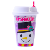 Lip Smacker | Holiday Beverage Cup - Snowman - Cocoa-ccino | Product front  facing cap fastenend, with no background