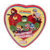 Lip Smacker | Marvel 3 Piece Lip Balm Tin | Product tin front facing lid fastened, no background