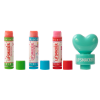 Lip Smacker | 3 Piece Lip Balm with Heart Topper | Product front facing out of tube caps removed, with no background