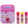 Lip Smacker | Original & Best 3 Piece Lip Balm Tin - Product front facing cap fastened, with no background