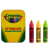 Lip Smacker | Crayola 3 Piece Lip Balm Tin - Products front facing cap fastenend, with no background