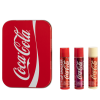Lip Smacker | Coca-Cola 3 Piece Lip Balm Tin - Products front facing cap fastenend, with no background