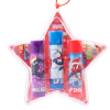 Lip Smacker   Disney 3 Piece Star Ornament - Marvel Avengers - Product front facing in ornament with caps fastened, with no background