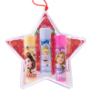 Lip Smacker | Disney 3 Piece Star Ornament - Disney Princess - Products front facing in ornament with cap fastenened, with no background