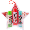 Lip Smacker | Disney 3 Piece Star Ornament - Minnie Mouse - Products front facing in ornament with cap fastnened, with no background