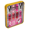Lip Smacker | Crayola Stackable Mini Vault - Pinks - Products in tin angled cap fastenend, with no background