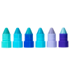 Lip Smacker | Crayola Stackable Mini Vault - Blues - Products front facing cap removed, with no background