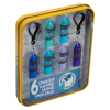 Lip Smacker | Crayola Stackable Mini Vault - Blues - Product tin angled cap removed, with no background